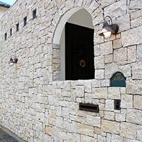 外壁:装飾 天然石