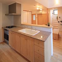 無添加住宅オリジナルキッチン